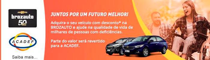Banner parceira da ACADEF - BROZAUTO/ CHEVROLET