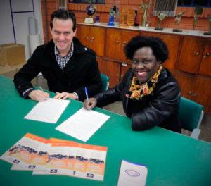 Assinatura da parceira da ACADEF - BROZAUTO/ CHEVROLET