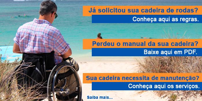 Banner cadeira de rodas - solicitação - manual - manutenção