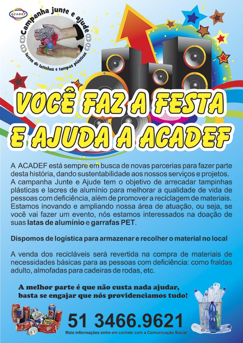 Cartaz sobre logística de recolher latas e pets em festas