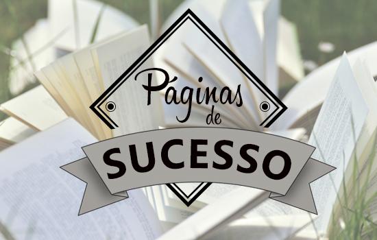 imagem com livros escrito Paginas de sucesso